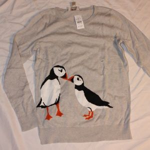 Loft Outlet puffin sweater💕